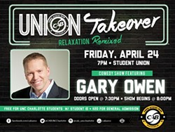 Gary Owen is coming to UNC Charlotte!