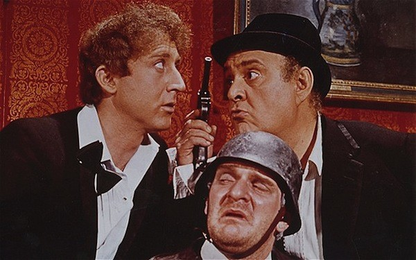 Gene Wilder, Kenneth Mars (bottom) and Zero Mostel in The Producers (Photo: Shout! Factory)
