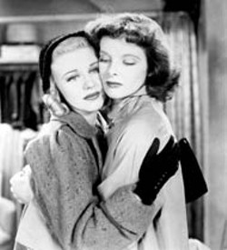 WARNER BROS - Ginger Rogers and Katharine Hepburn in Stage - Door