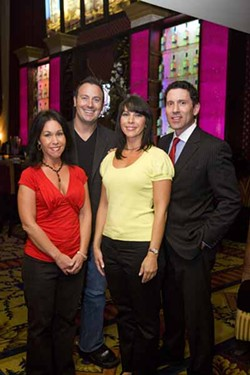ANGUS LAMOND - GIVING BACK: Nicole Castanas (left), Lloyd Ace, Dina Castanas and Brad Fuller of The Men's Club.