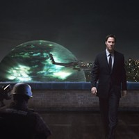 GLOBAL DOMINANCE: Klaatu (Keanu Reeves) arrives on Earth via a giant sphere in The Day the Earth Stood Still.