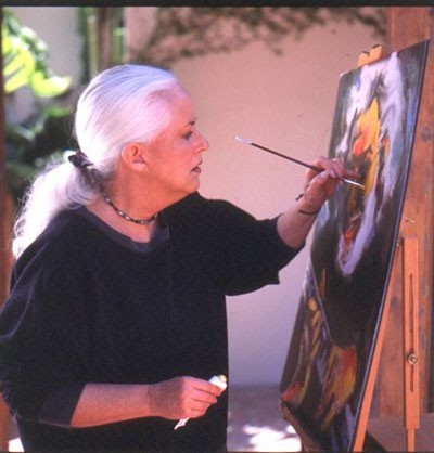 GOODNESS GRACIOUS: Grace Slick concentrates on making art. - COURTESY OF THE JEWELL AGENCY