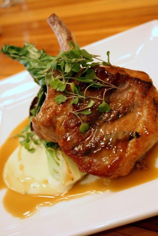 Grateful Growers Pork Saltimbocca with country ham, sage, and white wine pork demi