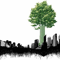 ILLUSTRATION BY ANITA LANGEMACH - GREENER PASTURES: Charlotte could continue to improve its environmental efforts by looking to other cities.