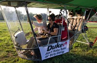 Greenpeace launches 'airship' to protest Duke Energy
