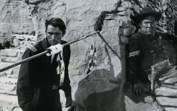 Gregory Peck and Ward Bond in Only the Valiant (Photo: Republic Pictures)