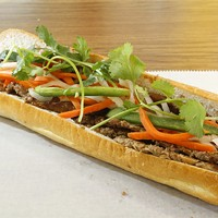 Grilled pork banh mi at Le's in Asian Corners