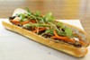 <p>Grilled pork banh mi at Le's in Asian Corners</p>