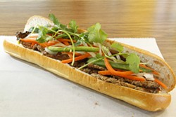ANGUS LAMOND - Grilled pork banh mi at Le's in Asian Corners