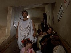 UNIVERSAL - GUITAR ZERO: John Belushi (toga! toga!) doesn't like what he hears in National Lampoon's Animal House