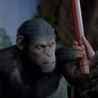 HAIL CAESAR: The primate takes charge in Rise of the Planet of the Apes. (Photo: WETA Digital & Fox)