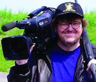 HAPPINESS IS A WARM GUN: Michael Moore shoots from the hip in Bowling for Columbine