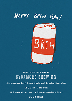 Happy Brew Year - The Sycamore NYE Celebration