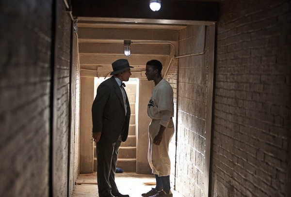 Harrison Ford and Chadwick Boseman in 42 (Photo: Warner Bros.)