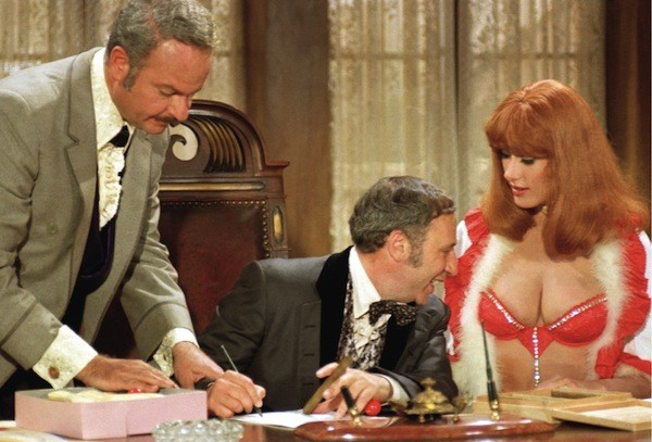 Harvey Korman, Mel Brooks and Robyn Hilton in Blazing Saddles (Photo: Warner Bros.)