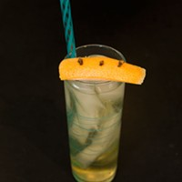 Haunt Bar's homemade soda, made with a grapefruit, ginger and Thai chili shrub combined with club soda