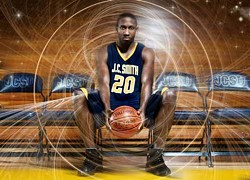 MOYE - HE GOT GAME: One of JCSU's champion Golden Bulls, Brian Mobley