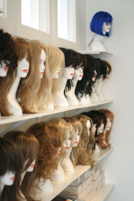 HEAD SHOP: The wigs on sale at Glamour Puss - COURTESY TY COE