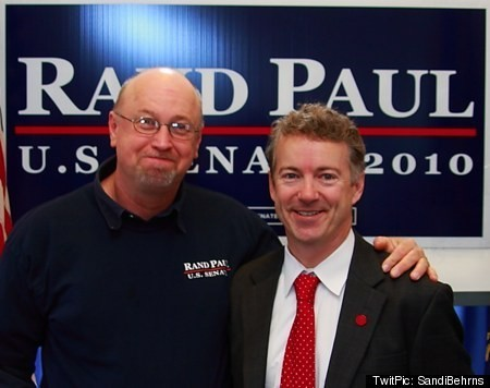 Head stomper Tim Profitt with his favorite candidate