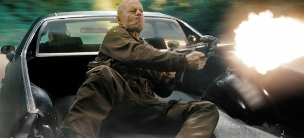 HEY, JOE, WHERE YOU GOIN' WITH THAT GUN IN YOUR HAND?: Joe Colton (Bruce Willis) makes his rounds in G.I. Joe: Retaliation. (Photo: Paramount)