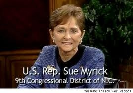 Hi, Im Sue Myrick and all you sluts are gonna wind up in hell