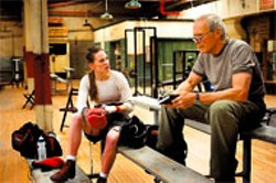 WARNER BROS - Hilary Swank and Clint Eastwood in Million Dollar Baby