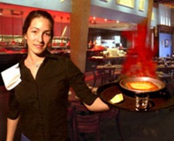 RADOK - HOT STUFF Flaming Saganaki at Greek Isles - Restaurant