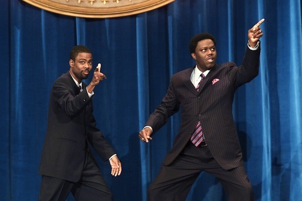 HOUSE PARTY: Chris Rock and Bernie Mac aim for the Oval Office in Head of State (Photo: DreamWorks)