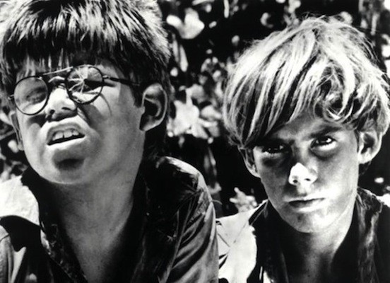 Hugh Edwards and James Aubrey in Lord of the Flies (Photo: Criterion Collection)