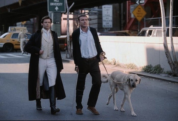 Hugh Jackman and Liev Schreiber in Kate & Leopold (Lionsgate & Miramax)