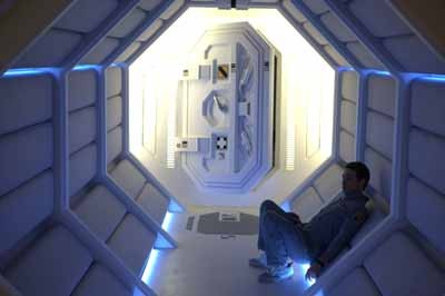 I AM SAM: Sam Bell (Sam Rockwell) contemplates his very existence in Moon. (Photo: Sony Pictures Classics)
