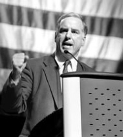 I WANT MY COUNTRY BACK!: Former Vermont Gov. - Howard Dean has built his candidacy on hard-nosed - attacks against the Bush administration. Will it play in - the South?
