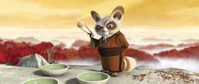 I'M GAWKING HERE!: Master Shifu (Dustin Hoffman) in Kung Fu Panda.