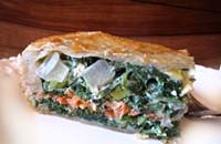 Deep Dish Spinach and Smoked Salmon Pie