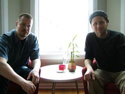 IMPROVISED: Ken Vandermark (left) and Tim Daisy.