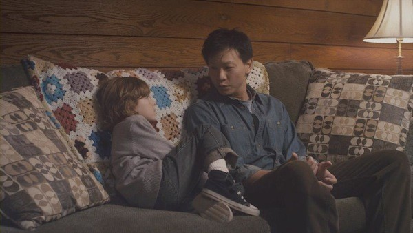 IN CHARGE: Patrick Wang (with Sebastian Brodziak) is the writer, director and star of In the Family.