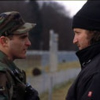 IN COMMAND Joaquin Phoenix and director Gregor      Jordan on the set of Buffalo Soldiers