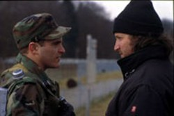 DAVID APPLEBY / MIRAMAX - IN COMMAND Joaquin Phoenix and director Gregor - Jordan on the set of Buffalo Soldiers
