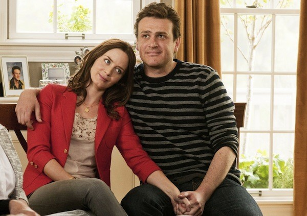 IN FOR THE LONG HAUL: Violet (Emily Blunt) and Tom (Jason Segel) bide their time in The Five-Year Engagement. - UNIVERSAL PICTURES