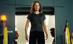 RON BATZDORFF / TOUCHSTONE - IN PLANE SIGHT Kyle Pratt (Jodie Foster) surveys the damage in Flightplan