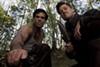 <p><i>INGLOURIOUS BASTERDS</i>: Eli Roth and Brad Pitt</p>