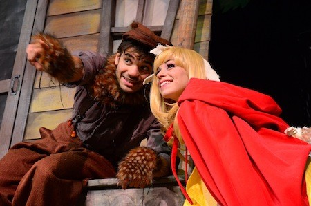 Isaac Gay and Cassandra Howley Wood star in Petite Rouge: A Cajun Red Riding Hood at Children's Theatre of Charlotte.