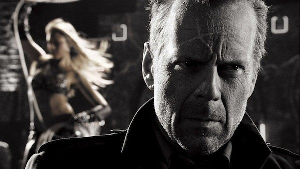 IT'S A DRAW: Frank Miller's original artwork is brought to life by Bruce Willis and Jessica Alba in Sin City. (Photos: Miramax)