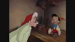 WALT DISNEY STUDIOS HOME ENTERTAINMENT - 'IT'S ALIVE! IT'S ALIVE!': An animated Pinocchio surprises Geppetto in Pinocchio.