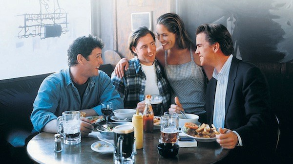 Jack Mulcahy, Edward Burns, Maxine Bahns and Mike McGlone in The Brothers McMullen (Photo: Fox)