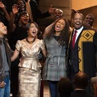 Jacob Latimore, Angela Bassett, Jennifer Hudson and Forest Whitaker in Black Nativity. (Photo: Fox Searchlight)