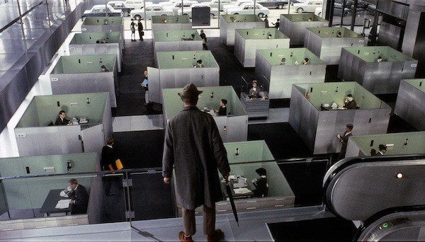 Jacques Tati in Playtime (Photo: Criterion)