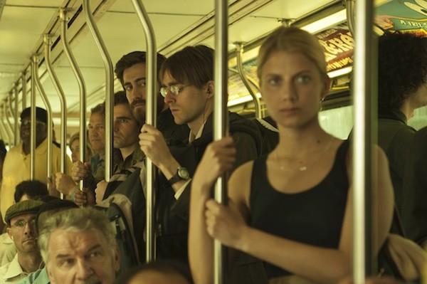 Jake Gyllenhaal (staring) and Mélanie Laurent in Enemy. (Photo: A24)