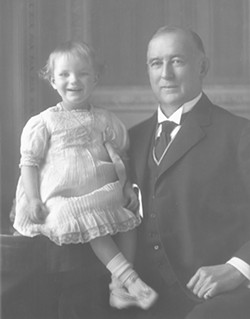 COURTESY OF THE DUKE MANSION - James Buchanan Duke and his daughter, Doris