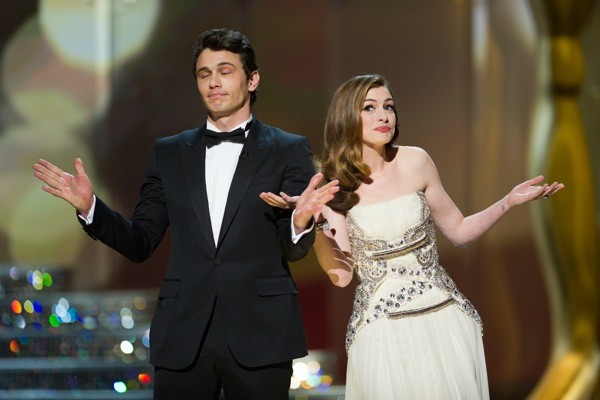 James Franco and Anne Hathaway. (All photos copyright AMPAS)